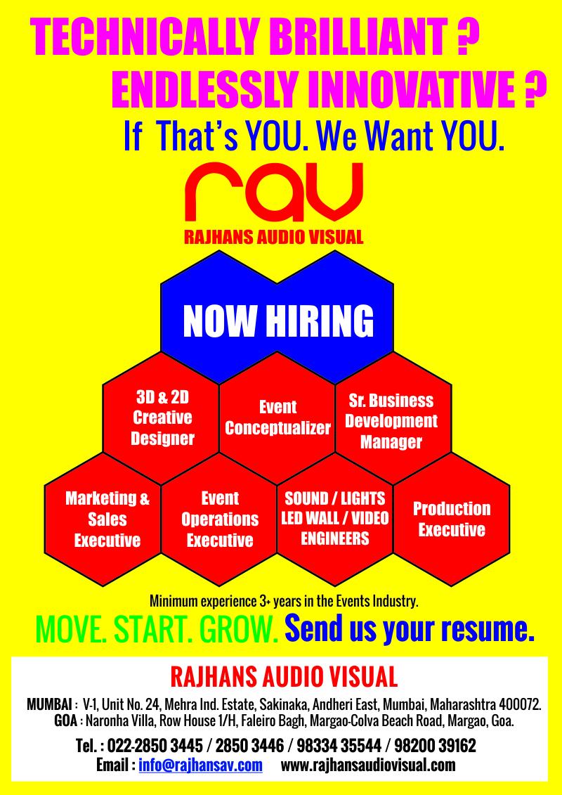 Rajhans AV Hiring - Recruitment Ad